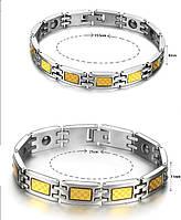 Набор турмалиновых магнитных браслетов с кулонами 2в1
