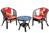 Комплект мебели из натурального ротанга