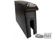 Подлокотник ВАЗ 2105 - 2107 с вышивкой черный