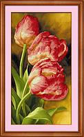 Набор алмазной вышивки 5D на холсте Тюльпаны