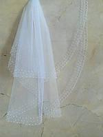 Свадебная фата с жемчуга №25