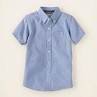 Детская голубая рубашка для мальчика, на рост  99-107, 118-133, 133-147 см.(арт.2341)