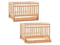 Детская деревянная кроватка с ящиком 1140