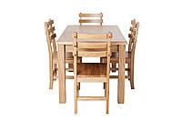 Обеденный комплект натуральной деревянной мебели «Кантри» Дуб