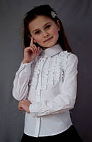 Нарядная блузка на девочку,блузка на девочку в школу 2085