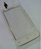 Lenovo A398t white тачскрин оригинальное cтекло сенсорного экрана, сенсорная панель,