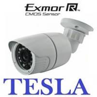 "IP видеокамера  tesla TSP-215H.  1.2мп, 1/2.7"" Sony low illumination  CMOS, ИК=20, f=3.6, влагозащита IP67"