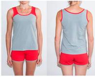 """Комплект спальный женский шорты и майка SW 08 """"Ego"""" 95% хлопок цвет серый"""