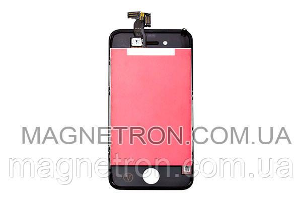 Дисплей + тачскрин + рамка для телефонов Apple iPhone 4 (черный), фото 2