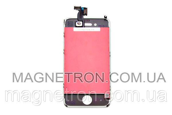 Дисплей c тачскрином + рамка для мобильных телефонов Apple iPhone 4 (белый), фото 2