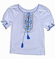 Вышиванка для девочки с коротким рукавом '' Полтавчанка ''