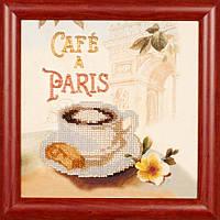 Набор для вышивки бисером Волшебная страна Кафе Париж (с рамкой) (FLB010) 20 х 20 см