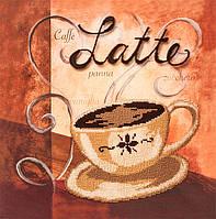 Картина бисером в рамке Волшебная страна Чашечка латте (FLF068) 30 х 30 см