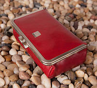 Женская косметичка кожаная Verus Tokyo 170R TK красный