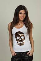 Женская модная Майка с леопардовым черепом