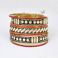 Набор браслетов из Индии (кость)