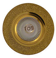 Точечный светильник MR 16 RG002  GD/SHYL золото
