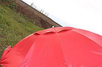 Зонт круглый 2.2м. с серебряным напылением и ветровым клапаном