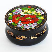 Украинские сувениры. Шкатулка деревянная расписная. Букет з бузком