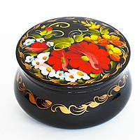Украинские сувениры. Шкатулка деревянная расписная. Нежные цветы
