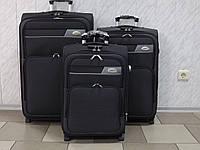 Комплект чемоданов на 2 колеса Sanjerly 5070 серый 3 штуки