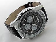 Мужские часы BREITLING  1884 кварцевые, черный циферблат, корпус в серебристом цвете