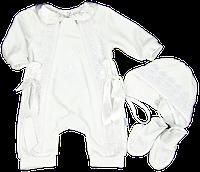Крестильный набор для новорожденных из 3-х предметов 62,68