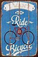 Ретро табличка металлический постер Bicycle