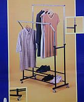 Стойка для одежды с полками