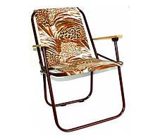 Кресло складное  с деревянными быльцами Уют-2