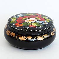 Украинские сувениры. Деревянная расписная шкатулка. Летние цветы