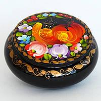 Украинские сувениры. Деревянная расписная шкатулка. Жар-птица
