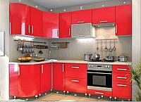 """Кухня модульная """"High Gloss"""" угловая 2600 * 1300 мм"""