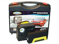 Набор автомобилиста: зарядно-пусковое устройство, компрессор-насос, переходники, шнур к прикуривателю, зажимы