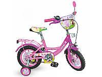 Детский двухколесный велосипед 16 дюймов Лунтик LT 0052-02 малиново-фиолетовый