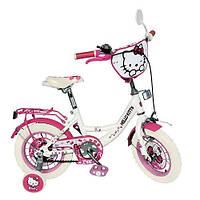 Детский двухколесный велосипед 12 дюймов Hello Kitty HK 0073 розово-белый