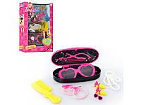 Набор аксессуаров Barbie 1680815, заколки, резиночки, бусы, очки, футляр для очков