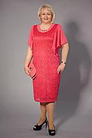 Нарядное летнее платье больших размеров. Размер 50-60