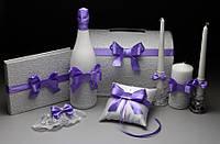Свадебная коллекция аксессуаров для фиолетовой свадьбы