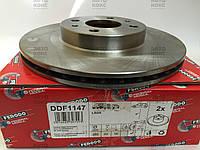 Тормозной диск передний Ferodo R14 на ВАЗ 2110-12, Калина. (FE DDF1147).