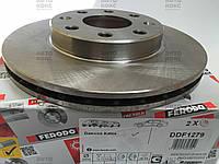 Тормозной диск вентилируемый передний на Daewoo Aveo 1.2-1.4(16V) Lacetti 1.8 (R 13) Пр-во Ferodo.