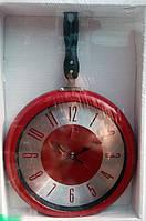 """Оригинальные настенные часы для кухни """"Сковородка"""", 29*43 см."""