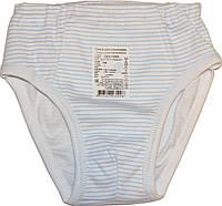 Трусики для мальчика, белые в голубую полоску, размер 64, ТМ Фламинго