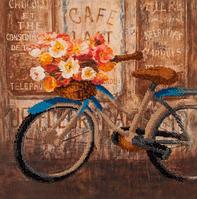 Набор для вышивания бисером FLF-080Велосипед30*30 Волшебная страна качественный