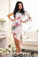 Летнее нарядное шифоновое платье Мальта А1 Медини 50-52 размер