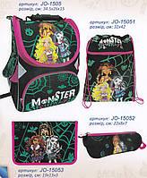 """Набор """"Monster Girl"""" рюкзак школьный ортопедический + сумка для обуви + пенал, Josef Otten JO-1505 арт. 520156"""