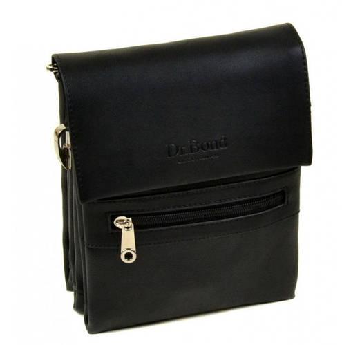 Мужская сумка-планшет из искусственной кожи dr.Bond 8819 black черный
