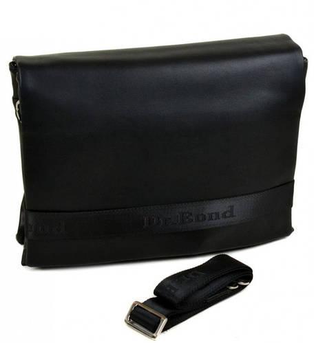 Мужская большая сумка-планшет из искусственной кожи dr.Bond 5139-4 black черный