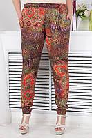 Яркие летние брюки больших размеров (рр 46-64)