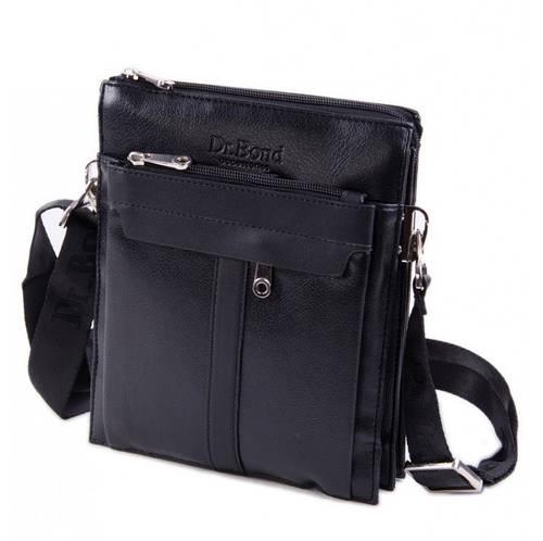 Мужская сумка-планшет на плечо из искусственной кожи dr.Bond 59007-2 black черный